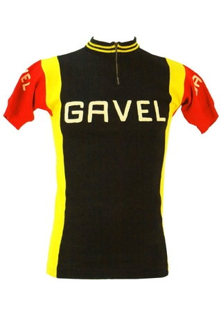 Black, Yellow and Red Cycling Jersey Top - S