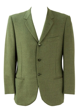 Green Fine Wool Blazer - M