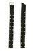 Black Leather Rocker Belt with Multiple Silver Stud Detail