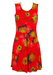 Vintage 1960's Unworn/New Red Mini Dress with Ditsy Floral Print - S