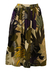Pleated Midi Skirt with Tropical Palm Print - S/M