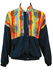 Vintage 90's Blue Track Jacket with Multicoloured Aztec Graphic Print - M/L