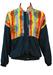Vintage 90's Blue Track Jacket with Multicoloured Aztec Graphic Print - M/L
