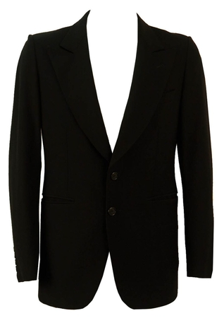 Pure New Wool Black Blazer - M