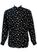 Black Shirt with White Polka Dots - M/L
