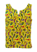 Yellow Cotton Vest Top with Multicoloured Musical Instrument Print - M