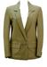 Olive Green Leather Blazer - M