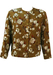 Vintage 60's Box Jacket with Olive Green, Russet & White Floral Print - L/XL