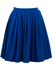 Electric Blue Pleated Wool Mini Skirt - M