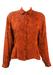 Copper Coloured Blouse with Floral & Paisley Satin Weave - M/L