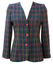 Fitted Wool Jacket with a Pink, Blue & Purple Check - M