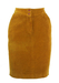 Belfe Ochre Corduroy Knee Length Pencil Skirt - S