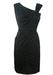 Vintage 60's Two Tone Black Polka Dot Cocktail Dress - S