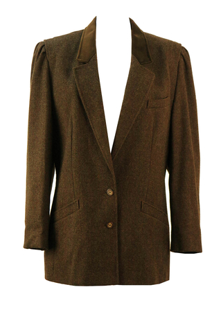 Basler Brown Wool Jacket - M/L