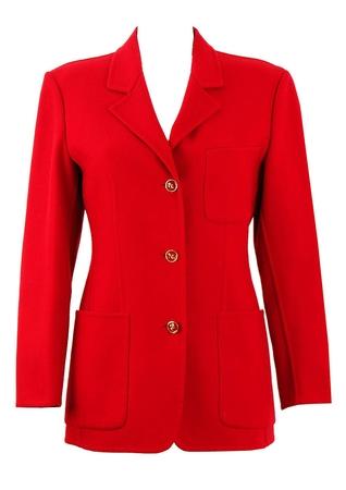 Salvatore Ferragamo Red Wool Jacket - S/M