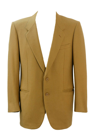 Pierre Balmain Camel Coloured Wool Blazer - M/L