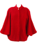 Red Cape with Bell Sleeve Detail - M/L