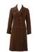 Vintage 1960's Brown Double Breasted Knee Length Coat - Unworn - XS/S