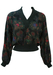 Wool & Silk Batwing Jumper with Foral Paisley Print - S/M