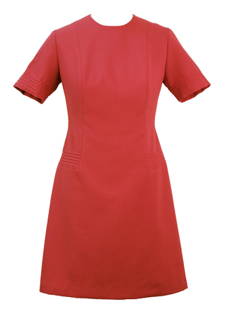 60's Dusty Pink Shift Dress - L