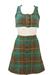 Vintage 60's Knitted Blue, Brown & Yellow Tartan Crop Top & Mini Skirt - XS/S