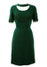 Vintage 60's Dark Green Evening Two Piece with Emerald Bead Detail - M