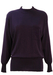 Purple Merino Wool Jumper with Embroidered Pocket Detail - M