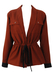 Russet & Black Wool Jacket with Drawstring - Possibly Christian Dior - M