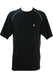 Black Champion T-Shirt with White Overlock Stitch Detail - M/L
