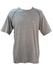 Grey Marl Champion T-Shirt with Navy Blue Overlock Stitch Detail - M/L