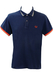 Fred Perry 'Special Edition' Blue Polo Shirt with Near Neon Orange Trim - L