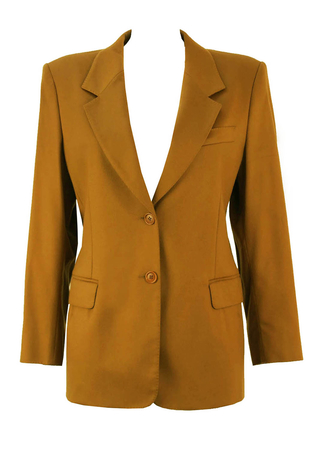 Max Mara Camel Colour Wool and Cashmere Jacket - M