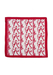 Soft Burgundy & White Silk Square Scarf with Intricate Letter 'K' Pattern - 52 x 51 cm