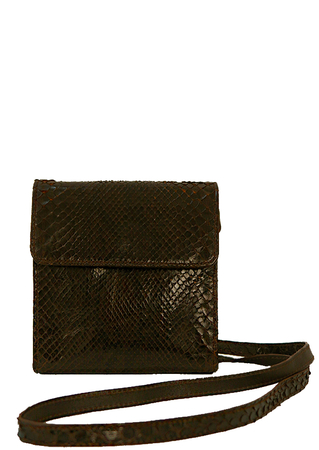 Petite Brown Snakeskin Cross Body Shoulder Bag