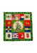 Vintage 60's Silk Square Scarf with Sailing Ship & Flags Design - 75 x 77 cm