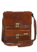 Brown Leather Correspondents Bag with Multi Pockets & Shoulder Strap