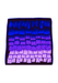 Square Scarf with Vibrant Violet Colour Graduation Pattern - 66 x 67 cm