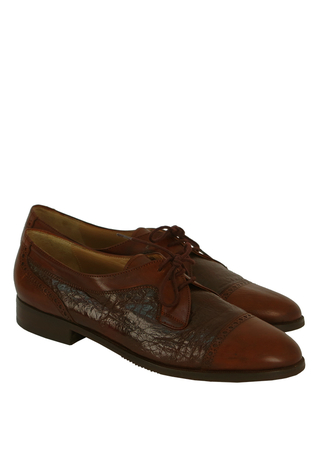 Brogue Shoes in Two Tones of Brown - UK Size 6.5