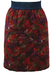 Quilted Above the Knee Skirt with Burgundy, Olive & Purple Floral Pattern - S