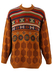 Rich Orange Wool Jumper with Polka Dots & Fair Isle Pattern - XL/XXL