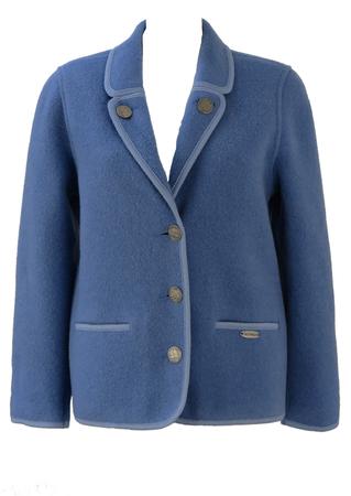Giesswein Tyrolean Sky Blue Wool Jacket - S/M
