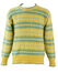 Pure New Wool Fair Isle Patterned Jumper in Yellow, Blue & White - M