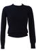 Navy Blue Lambswool Round Neck Jumper - XS/S