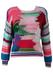 Multi Coloured Loose Knit Cotton Jumper with Metallic Highlights - S/M