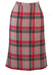Cacharel Pink & Grey Checked Wool Midi Skirt - S