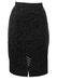 Grey & Black Leopard Print Knee Length Pencil Skirt - S/M