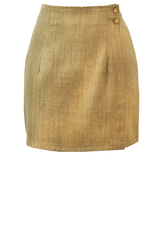 Wrap Around Light Sandstone Coloured Mini Skirt - XS/S