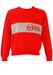 Sergio Tacchini Red Sweatshirt with Grey Stripe & Logo Design - S