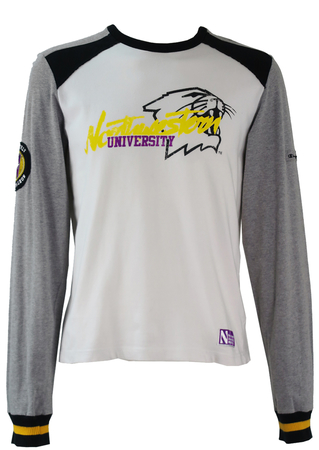 Champion Long Sleeve T-shirt with Wildcats Logo - M