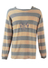 Emporio Armani Long Sleeve Striped Top with Embroidered Anchor Detail - XL